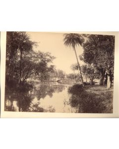 [Charles Scowen & Co (attributed to)]. [The Lake at Kandy].