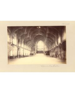 [Photographer unknown]. Westminster Hall