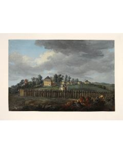 [ANONYMOUS ARTIST. View of a Homestead