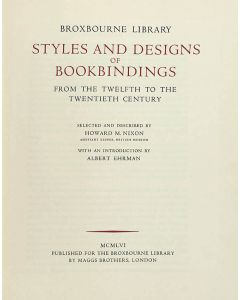 Styles & designs of bookbindings from the twelfth to the twentieth century - 1