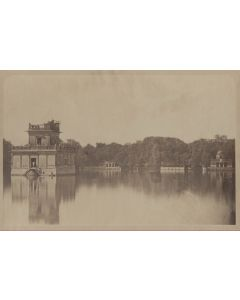 [Photographer unknown]. [Temple in lake].