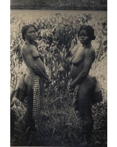 [Photographer unknown]. [Two bare-chested African girls].