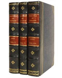 Charles Lyell, Principles of Geology, 3 vols, first edition, 1830-33 - 1