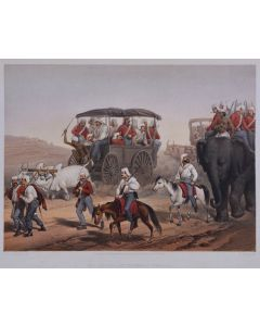 Atkinson, Military campaign in India, hand coloured, 1859, first edition - 1