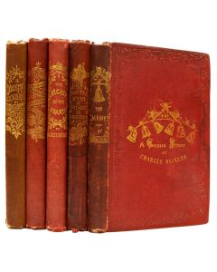 A complete first edition set of The Christmas Books by Charles Dickens - 1
