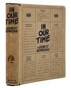 Ernest Hemingway, In Our Time, first edition, 1925 - 1
