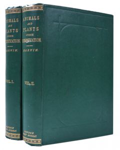 Charles Darwin first edition The Variation of Animas and Plants, 2 vols - 1