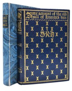 Some Account of the Old Hall of Lincoln's Inn by Sir J W Simpson, deluxe ed - 1