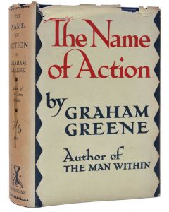 Graham Greene, The Name of Action, first edition, dust jacket, 1930 - 1