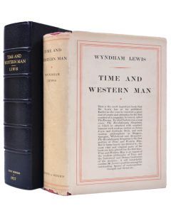 Wyndham Lewis, Time and Western Man, first edition, dust jacket, 1927 - 1
