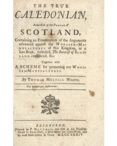 Thomas Melvill, The true Caledonian, first & only edition, 1734 - 1
