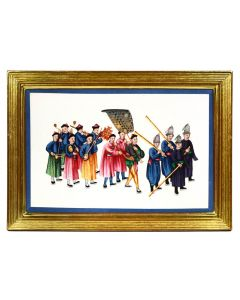 [China Export Watercolours on Pith Paper] A Set of Twelve Processions.