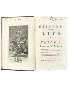 history of the life of peter I emperor of russia, 1739, mottley - 1