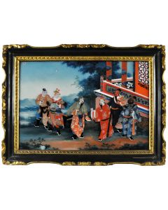 [CHINESE SCHOOL - Sanguo Yanyi: a Pair of Reverse Paintings on Glass.