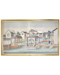 [CHINESE SCHOOL. Two Watercolour Scenes.