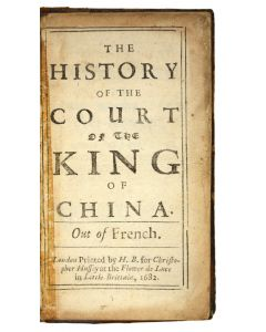 Michel Baudier, history of the court king of China first edition 1682 - 1