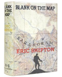 Eric Shipton, Blank on the Map, London 1938, first edition - 1