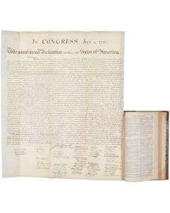 Declaration of Independence, in American Archives, rice-paper engraving - 1