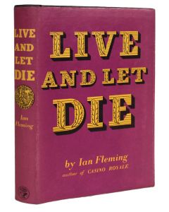 Ian Fleming, Live and Let Die, first edition, first issue James Bond novel - 1