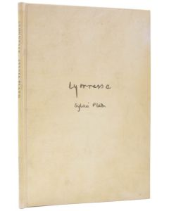 Sylvia Plath, Lyonnesse, number 2 or 10 copies only, 1971. - 1